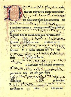 """""""Puer natues es nobis"""" Introit to the Christmas day mass. Music Manuscript, Medieval Manuscript, Illuminated Manuscript, Medieval Music, Medieval Books, Music Note Symbol, Sacred Geometry Symbols, Early Music, Music Score"""