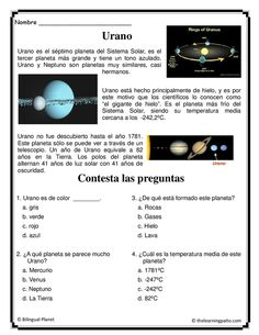 All planets in Spanish and more. Everything we have include with Subscription. www.thelearningpatio.com