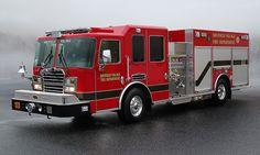 KME, Sheffield Village Fire Department, OH, custom pumper.