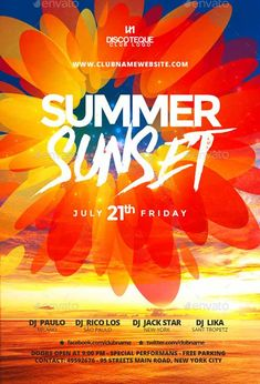Summer and Spring Party Flyer Template - http://ffflyer.com/summer-and-spring-party-flyer-template/ Enjoy downloading the Summer and Spring Party Flyer Template by BigWeek   #Club, #Dj, #Electro, #Event, #Party