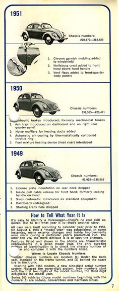 507. VW Beetle - How to tell what year it is [1]