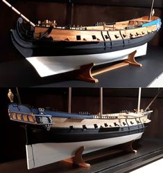 Model of La Concorde or Queen Anne's Revenge Wooden Model Boats, Wooden Boats, Concorde, Model Ship Building, Doll House Crafts, Man Of War, Naval History, Wooden Ship, Tall Ships