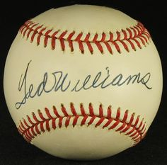 Ted Williams Signed OAL Baseball (Hollywood Collectibles COA & Green Diamond Sports Hologram)