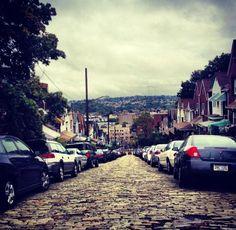 Cobblestone streets, Pittsburgh, Pennsylvania