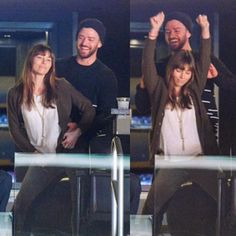 Timberlakes grooving on at Grizzlies' game!  #JustinTimberlake #JessicaBiel #Timberlakes #JT