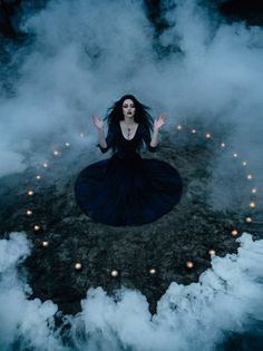 Magic forest Witch candles goth gothic witchcraft fog spirit Goth girl wiccan ritual wicca sourcery obscurity black magic enchanted forest Witchery