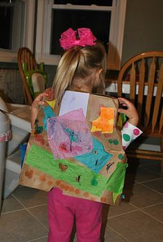 Joseph's coat - made from paper grocery bag