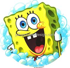 2 Round ~ Spongebob Squarepants Bubbles Birthday ~ Edible Image Cake/Cupcake Topper!!! ** Wow! I love this. Check it out now! - baking decorations