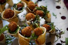Parmesan Pesto Cones. These crisp, savory pizzelle or waffle-cones make a great device for serving small bites of salad, miniature meatballs or savory ice creams.