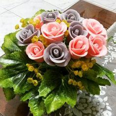 Bunga dari clay sabun