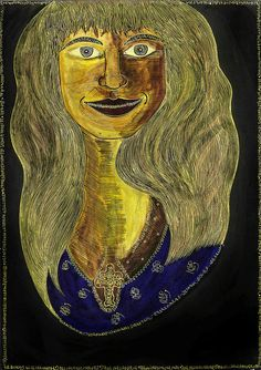 Woman With Double Cross Painting