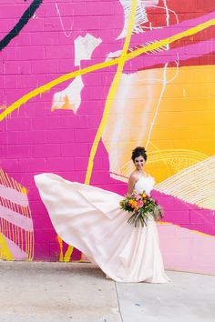 pattern play wedding inspiration - this photo shoot is bright and bold and amazing