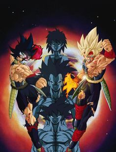 Ilustraciones poco vistas de Bardock, papá de Goku. Me encanta Bardock, es un personaje y un guerrero alucinante.