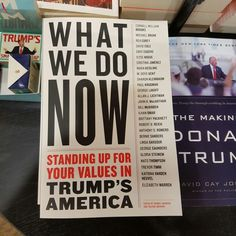 'What we do now' - standing up for your values in trump's america