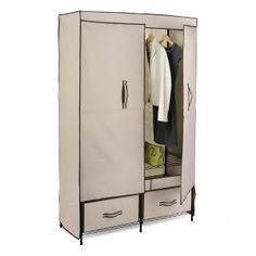 Honey-Can-Do Portable Wardrobe Storage Wardrobe Drawers, Diy Wardrobe, Wardrobe Storage, Wardrobe Design, Closet Storage, Locker Storage, Wardrobe Ideas, Wardrobe Organisation, Attic Storage