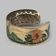 Stephen Einhorn - Les Pitons Vertes Bracelet. Inspired by St Lucia Island