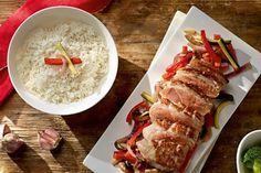 Pečená kachní prsa s wok zeleninou a jasmínovou rýží