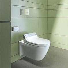 Offrez-vous le confort d'un lavage optimal avec l'abattant Sensowash combiné au WC Starck 2.