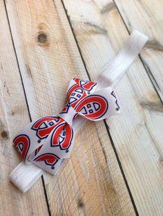 Montreal Canadiens headband, hockey headband, Habs headband, baby headband, infant headband, newborn headband on Etsy, $5.81