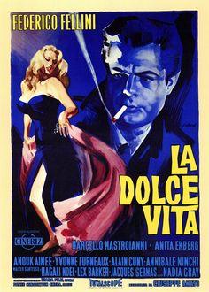 Rene Gruau designed the famous Italian film poster La Dolce Vita c. 1960