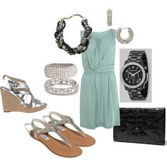 """summer wedding outfit"" by amrivers84 on Polyvore"