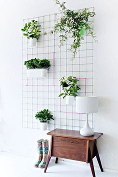Do you have a blank wall? do you want to decorate it? the best way to that is to create a vertical garden wall inside your home. A vertical garden wall, also called a living wall, is a collection of… Continue Reading → Plantador Vertical, Jardim Vertical Diy, Vertical Wall Planters, Vertical Garden Diy, Hanging Planters, Garden Planters, Planter Pots, Vertical Gardens, Planter Ideas