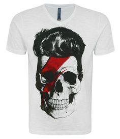 Camiseta Masculina Estampa Caveira David Bowie $29.90