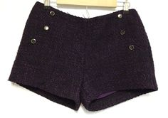 Potters Pot Tweed Shorts Size Large L Purple Black Apricot Lane Boutique  #PottersPot #TweedShorts