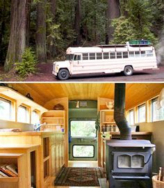 Reminds me of a bus my dad converted into a camperSchool's Out Forever: 12 Crazy DIY Converted Bus Homes