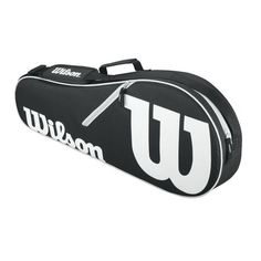 Wilson Advantage Triple Racquet Tennis Equipment Bag Black - Tennis at Academy Sports