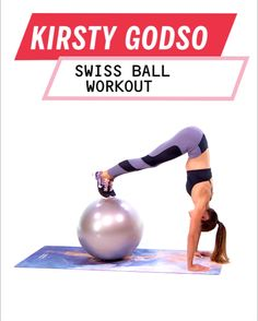When You're Short on Time, Try This Customizable Workout by Kirsty Godso If you&;re short on time, don&;t skip your workout. Fit this Kirsty Godso, total body circuit workout using an exercise ball to get an intense, quick workout. Fitness Workouts, Sport Fitness, Yoga Fitness, At Home Workouts, Fitness Motivation, Health Fitness, Sport Motivation, Fitness Ball Exercises, Toning Exercises