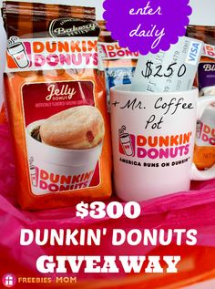 You're gonna flip over this $300 Dunkin' Donuts Bakery Series Coffee #Giveaway (includes a $250 VISA GIFT CARD!!!) #spon (ends March 25) ENTER DAILY http://freebies4mom.com/bakery/