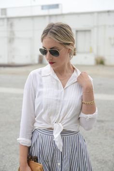 Buttoned Down the Front | Cupcakes & Cashmere