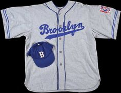 "Dodgers Blue Heaven: Brooklyn Memorabilia at REA - Dodger Stock, an Old Pin and a Jersey from ""The Natural"""