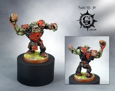 CoolMiniOrNot - Blood Bowl Orc Thrower (conversion) by Painted By-g
