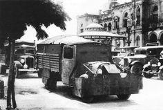 Tiznado republicano, frente al Gran Casino (actual Ayuntamiento de Donostia San Sebastián). 1936. Kutxateka.