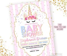 Baby Shower Invitation Backgrounds Free Magnificent Unicorn Baby Shower Invitation Printable For Perfect Diy Baby Shower .