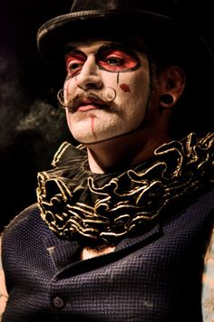 Male circus style and makeup