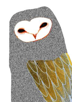 Barn Owl by Ashley Percival. illustration art print, owl print, artist, illustrator, owl, children's art, barn owl,