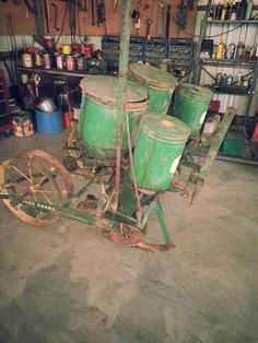JOHN DEERE 2-Row Corn Planter.  Great old planter! I've planted a lot of sweet corn with one of these!