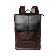 Fashion Crazy horse Leather Men Backpack High quality Men's travel bags Preppy Style Men school bag Casual Rucksack bags mochila