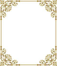 Яндекс.Фотки Borders For Paper, Borders And Frames, Printable Frames, Frame Clipart, Gold Wedding Invitations, Floral Border, Border Design, Vintage Labels, Vintage Paper