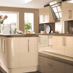 11 best cream gloss kitchen images cream kitchen cabinets cream rh pinterest com