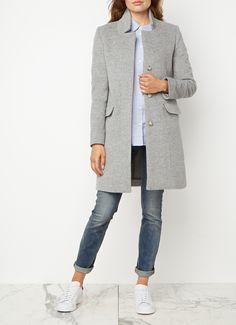Pori mantel van Closed, vervaardigd uit zachte wol en verrijkt met kasjmier voor…