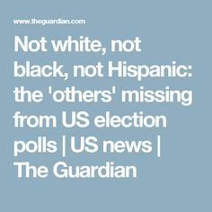 Not white, not black, not Hispanic: the 'others' missing from US election polls | US news | The Guardian