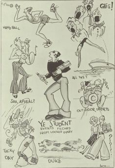 Student art from the 1931 yearbook of John Muir high school in Pasadena, California.  #1931 #JohnMuir #yearbook