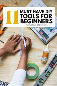 I've put together a list of my favourite DIY tools for beginners that I love to have handy whenever I am considering tackling a DIY project. #diytools #diy #beginnerdiytools Diy Projects On A Budget, Diy Crafts Hacks, Diy Furniture Projects, Diy Home Decor Projects, Craft Tutorials, Diys, Craft Projects, Using A Paint Sprayer, Colorful Playroom