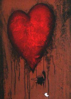Heartache and Poetry 3 ... by Jaime Best - Dark Fantasy Art Print | bestartstudios - Print on ArtFire