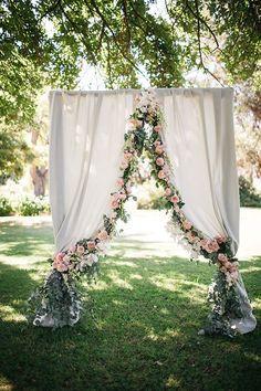 Rosas para una boda en jardin