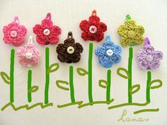 Lanas de Ana: HOW TO: Simple Flower Hairclips